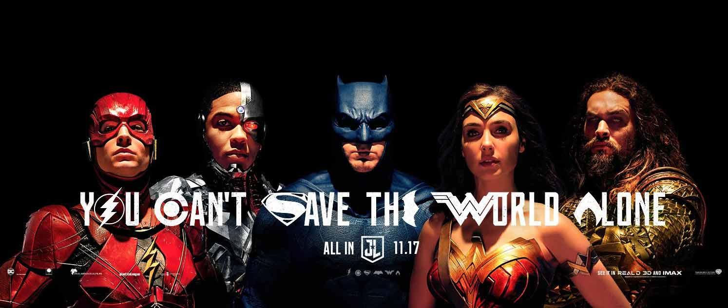 فرقة العدالة: لا يمكنك انقاذ العالم وحدك- ولا مع مجموعة Justice League
