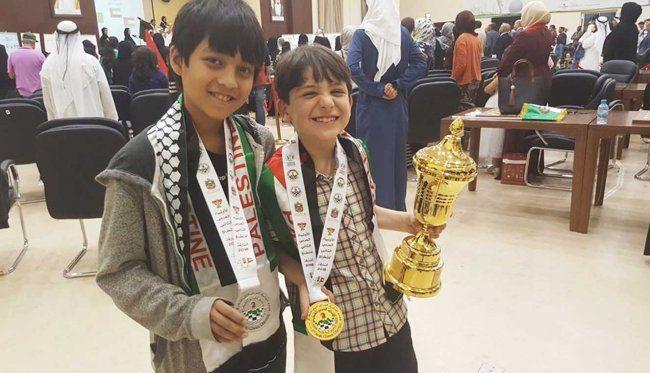 أطفال فلسطين يحصدون الذهب والفضة في بطولة الشطرنج للعالم العربي